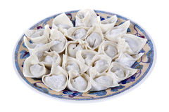 Bolinho de massa chinês do wonton do alimento foto de stock royalty free