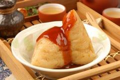 Bolinho de massa cozinhado do arroz imagem de stock royalty free
