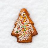 Bolinho do Natal do pão do gengibre Imagem de Stock