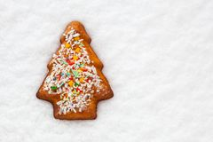 Bolinho do Natal do pão do gengibre Fotos de Stock
