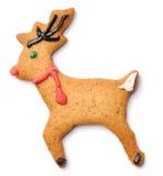 Bolinho dos cervos do pão-de-espécie do Natal fotografia de stock royalty free