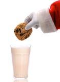 Bolinho Dunking de Santa fotografia de stock