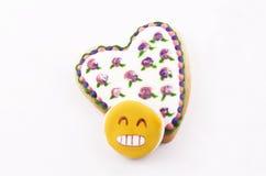 Bolinho Heart-shaped fotografia de stock