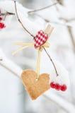 Bolinho Heart-shaped imagens de stock