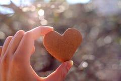 Bolinho Heart-shaped imagens de stock royalty free
