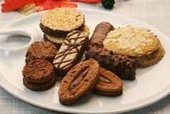 Bolinhos Assorted do Natal Imagem de Stock Royalty Free