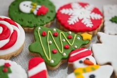 Bolinhos caseiros do Natal - pão-de-espécie imagem de stock