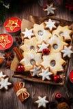 Bolinhos caseiros para o Natal Fotografia de Stock Royalty Free