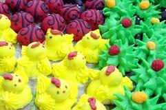 Bolinhos coloridos imagem de stock