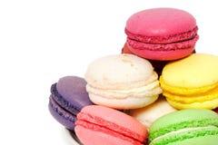 Bolinhos coloridos do macaroon Imagem de Stock Royalty Free