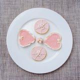 Bolinhos cor-de-rosa Imagens de Stock Royalty Free