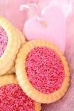Bolinhos cor-de-rosa fotografia de stock royalty free