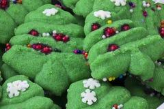 Bolinhos da árvore de Natal Imagens de Stock Royalty Free