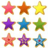 Bolinhos da estrela Fotografia de Stock