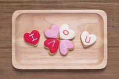 Bolinhos dados forma coração Fotografia de Stock Royalty Free