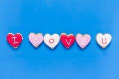 Bolinhos dados forma coração Imagens de Stock