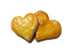 Bolinhos dados forma coração isolados Imagem de Stock Royalty Free