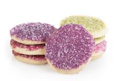 Bolinhos de açúcar coloridos Fotografia de Stock