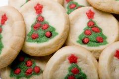 Bolinhos de açúcar da árvore de Natal Foto de Stock