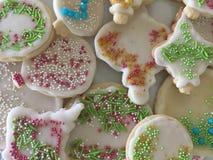 Bolinhos de açúcar decorados Fotografia de Stock Royalty Free