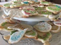 Bolinhos de açúcar decorados foto de stock