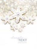 Bolinhos de açúcar do floco de neve Foto de Stock Royalty Free
