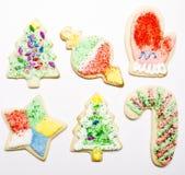 Bolinhos de açúcar do Natal Fotografia de Stock Royalty Free