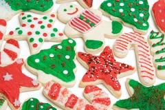 Bolinhos de açúcar do Natal Imagens de Stock