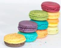 Bolinhos de amêndoa coloridos franceses tradicionais  Imagem de Stock Royalty Free