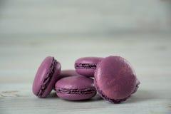 Bolinhos de amêndoa do francês da violeta doce Foto de Stock Royalty Free