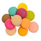 Bolinhos de amêndoa saborosos doces isolados Imagem de Stock
