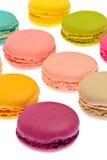 Bolinhos de amêndoa saborosos doces isolados Fotos de Stock Royalty Free