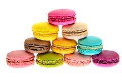 Bolinhos de amêndoa saborosos doces isolados Fotografia de Stock