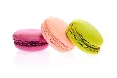 Bolinhos de amêndoa saborosos doces isolados Foto de Stock Royalty Free