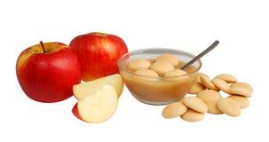 Bolinhos de Apple e de esponja Fotografia de Stock