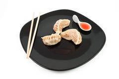Bolinhos de massa chineses da carne Foto de Stock