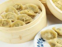 Bolinhos de massa de Jiaozi Fotografia de Stock Royalty Free