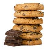 Bolinhos de microplaqueta de chocolate Fotografia de Stock