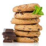 Bolinhos de microplaqueta de chocolate Imagem de Stock