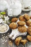 Bolinhos de oatmeal caseiros fotos de stock royalty free