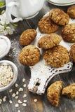 Bolinhos de oatmeal caseiros imagem de stock royalty free
