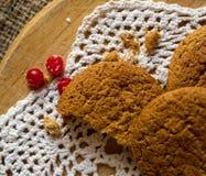 Bolinhos de Oatmeal com airelas Foto de Stock Royalty Free