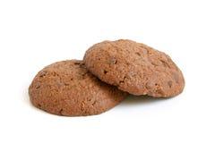 Bolinhos de Oatmeal com chocolate fotos de stock