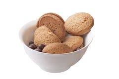 Bolinhos de Oatmeal e doces de chocolate Foto de Stock