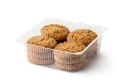 Bolinhos de Oatmeal no pacote de varejo imagem de stock