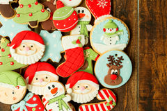 Bolinhos deliciosos do Natal Fotografia de Stock Royalty Free