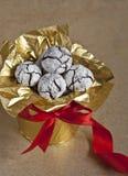 Bolinhos do chocolate do Natal Imagem de Stock