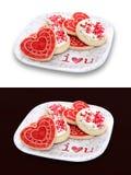 Bolinhos do dia dos Valentim imagens de stock