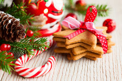Bolinhos do Natal Foto de Stock Royalty Free
