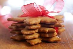 Bolinhos do pão-de-espécie do Natal Imagens de Stock Royalty Free
